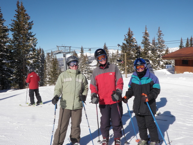 Jane, Fred and Douggie at Mountain Top
