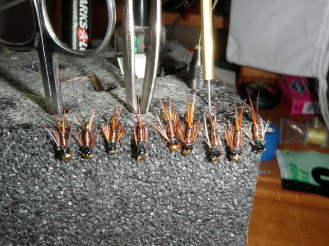 Completed Copper Johns Drying