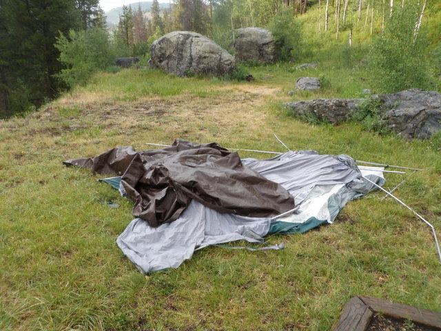 Aftermath of Storm That Hit Hornsilver Campground