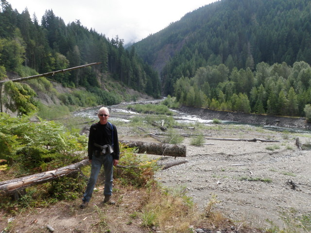 Dave Next to the Elwha River