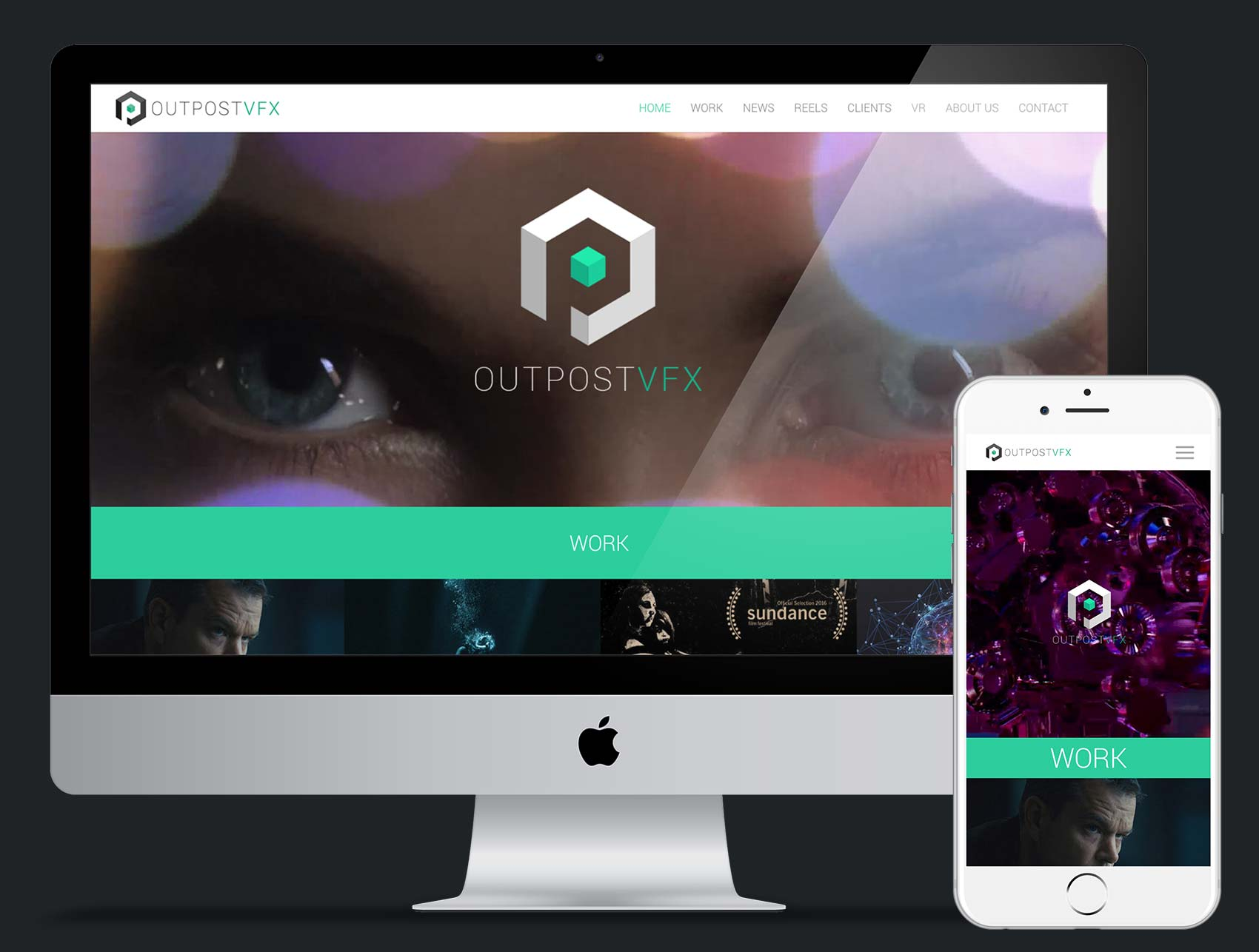 OutpostVFX Web design and build using Wordpress