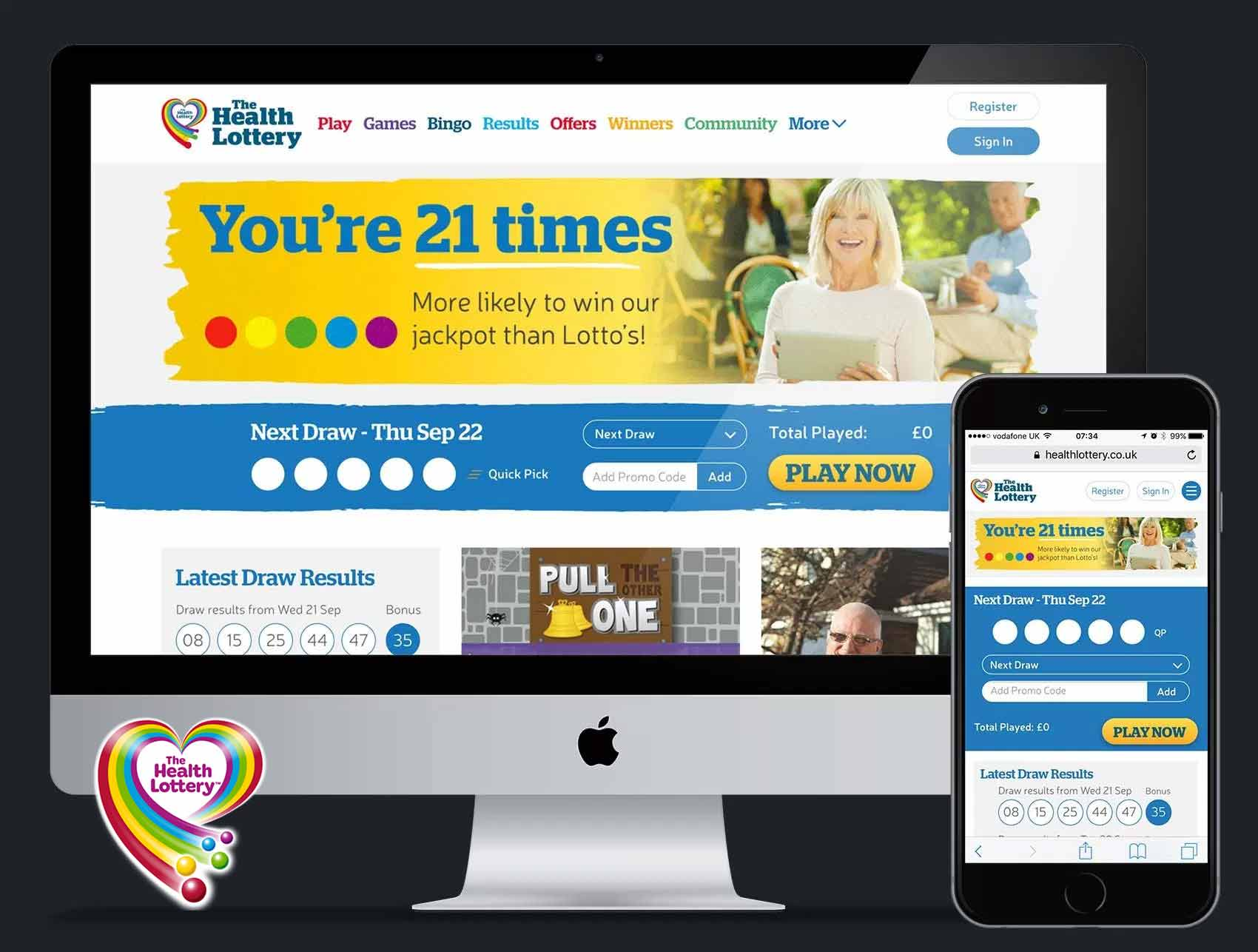 The Health Lottery: Website Redesign UX & UI