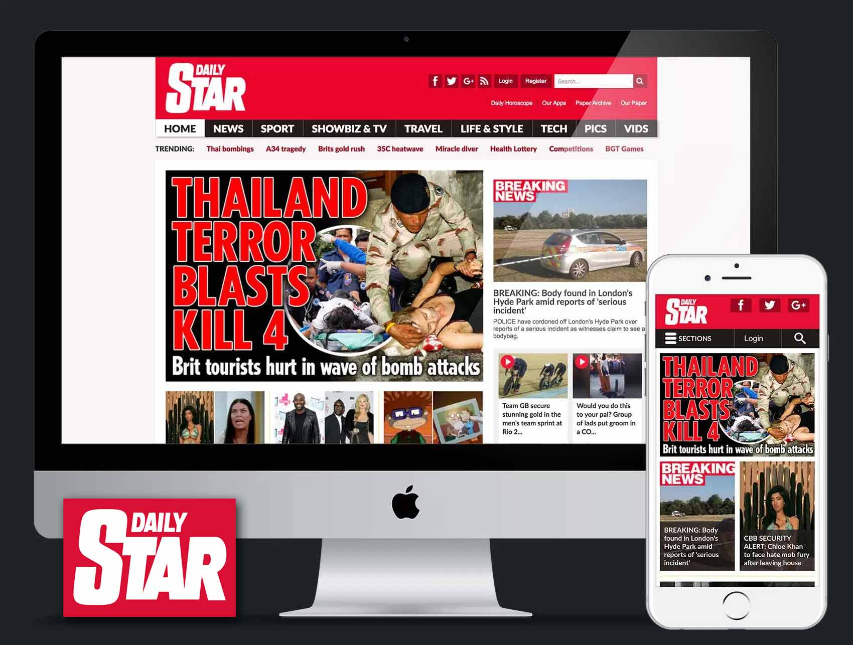 Daily Star: Website Redesign, UX & UI
