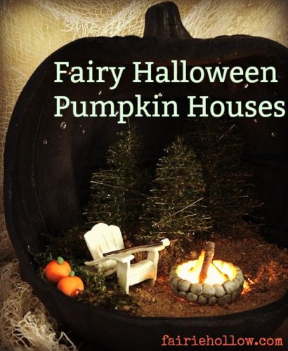 fairy, pumpkin, halloween,back, fairy houses