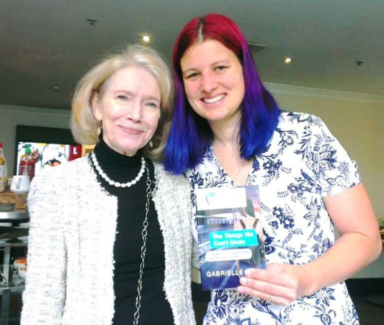 "With Australian prize-winning author of ""The Things We Can't Undo: There no backspace key for life's decisions"" Gabrielle Reid. Take a look, written before #MeToo movement"