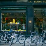 several-assorted-color-bikes-parked-in-front-of-bering-1539966
