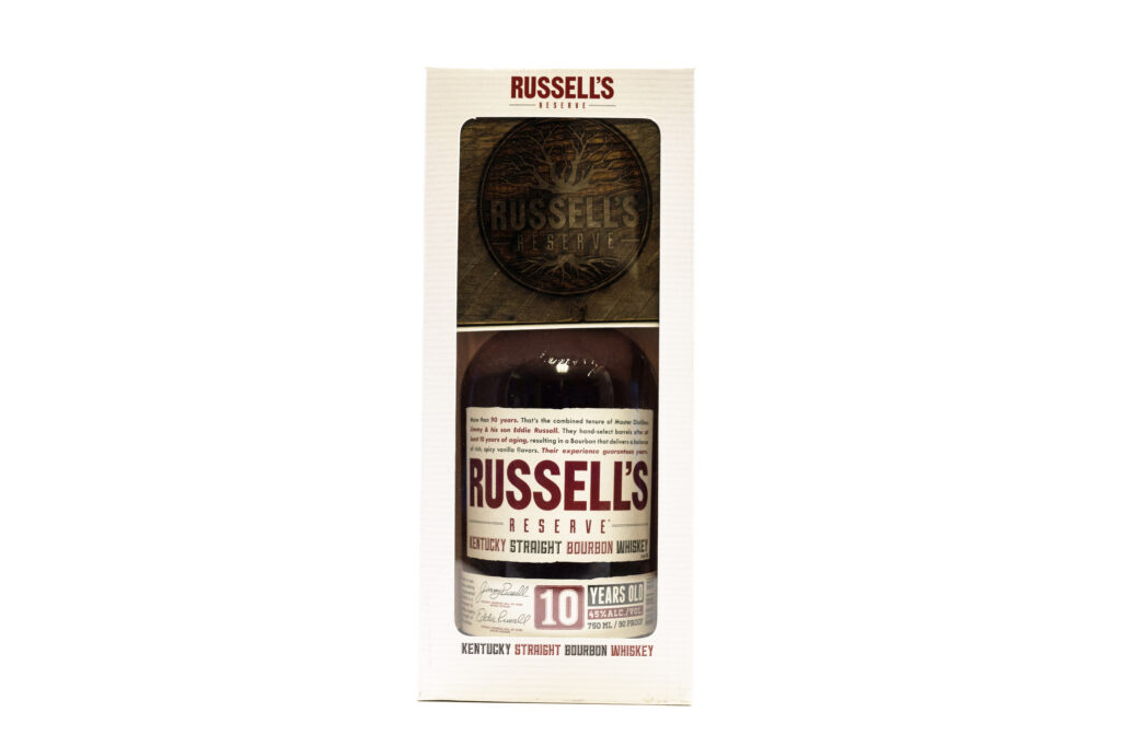 bourbon gift with purchase packaging with coaster
