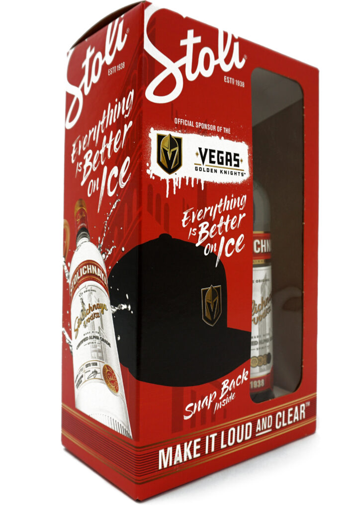 vodka gift with purchase packaging with cap