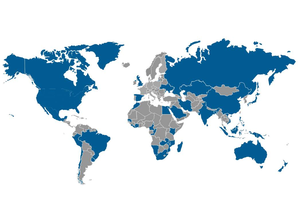 Previous work completed in these countries