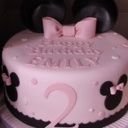 Minnie Mouse inspired cake