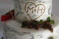Rustic Muskoka wedding cake