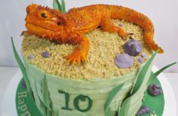 Bearded Dragon Cake