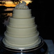 Muskoka Sunset Wedding Cake