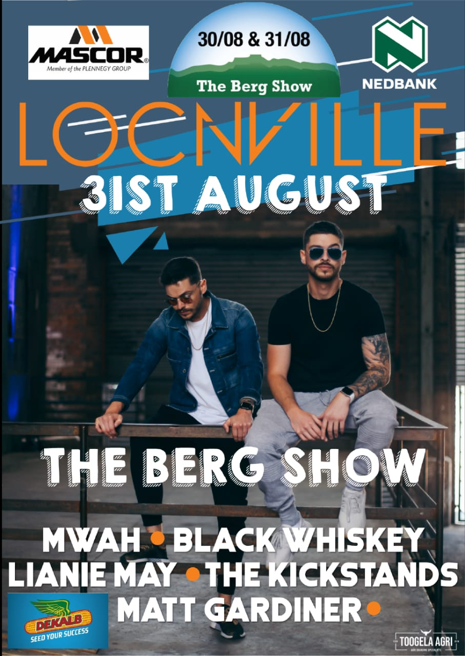 Berg show 2019 music acts - Headline act is Locnville