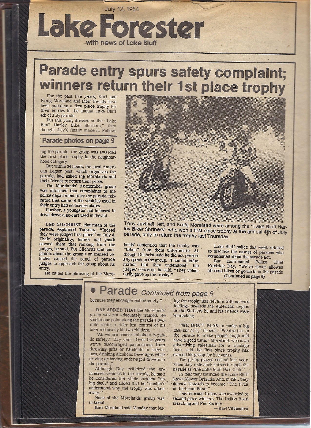 07Harley Biker Shriners Cause Parade Controversy