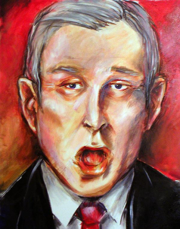 bush oil portrait