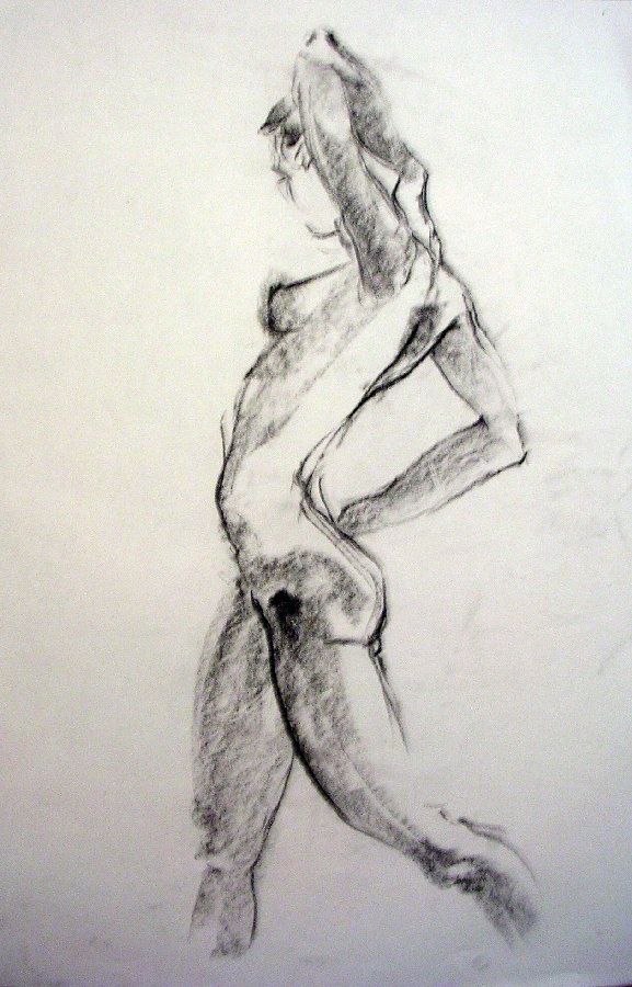 dancer charcoal on paper