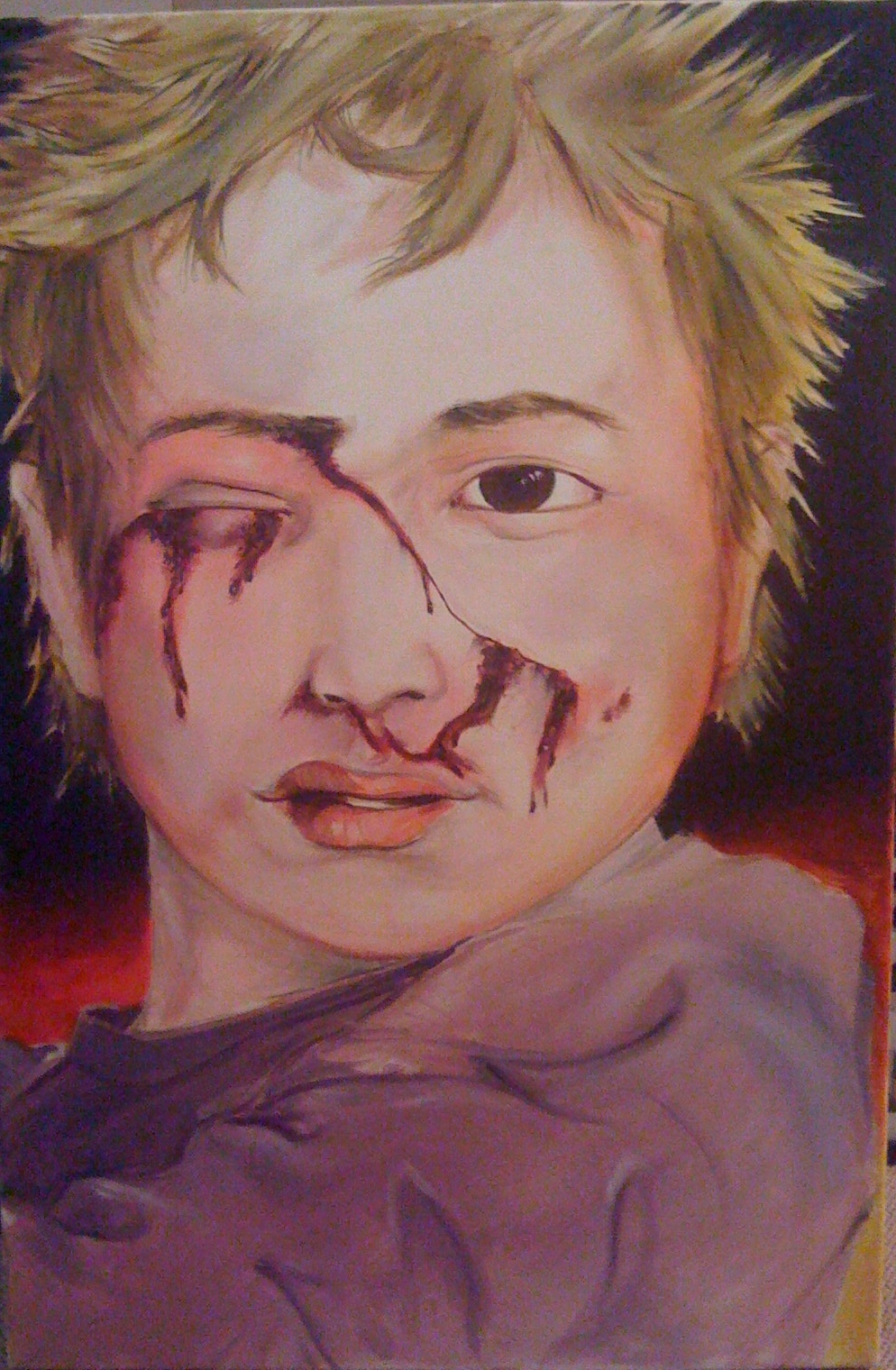 westernized Iraqi victim oil on canvas