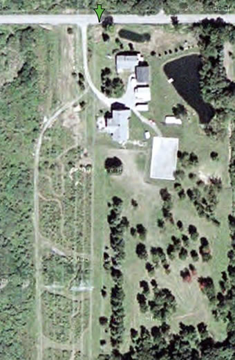 Ariel view of Rainbow Ridge Farm