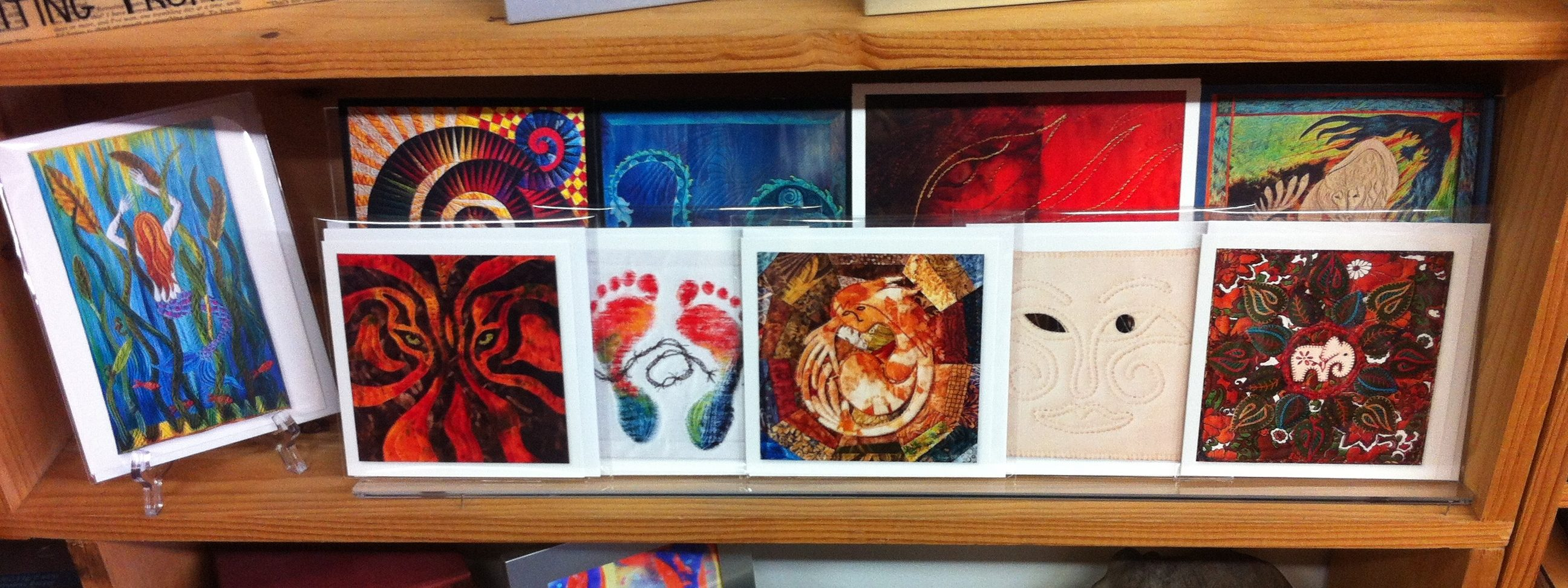 Note cards by Clare's Fibre Art