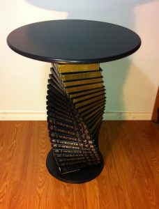 Table made from encyclopedias