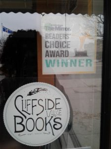 Readers' choice award winner's sticker