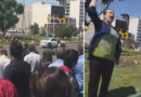Courageous Iranian lady in Tehran's suburb, Karadj, protests the Khomeiniist regime's executions