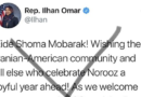 Iranians, Afghans and many more, dismiss Somali-American politician, Ilhan Omar's Norooz greeting on Twitter