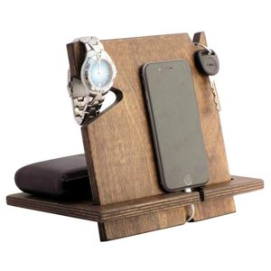 gifts for him wooden docking station