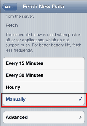iPhone/iPad - Fetch New Data - Manually