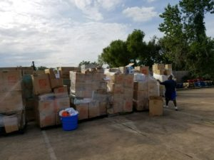 Donation Drive Supply Pallets