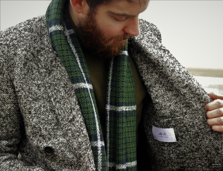 Styling out the Winter freeze with Mr P Double-Breasted Bouclé Overcoat