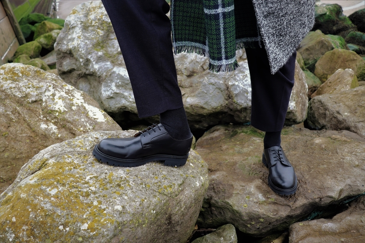 Styling out the Winter freeze with Mr P Jacques Leather Derby Shoes