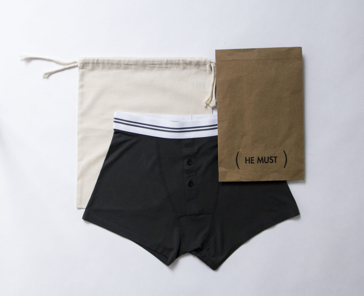 He Must Boxers packaging - What to look for in an eco-friendly fashion brand
