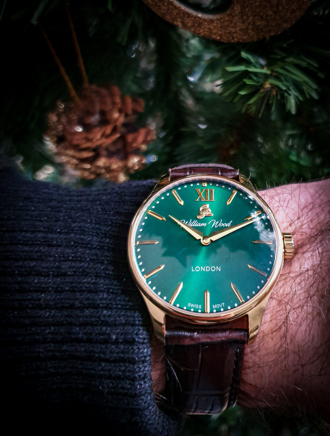off the cuff ldn British Racing Green William Wood Watch The Chivalrous Collection Coin