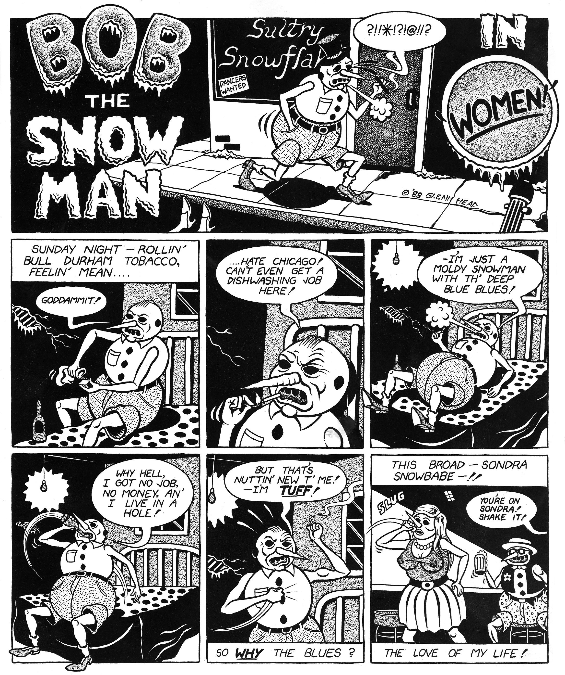 Bob the Snow Man by Glenn Head