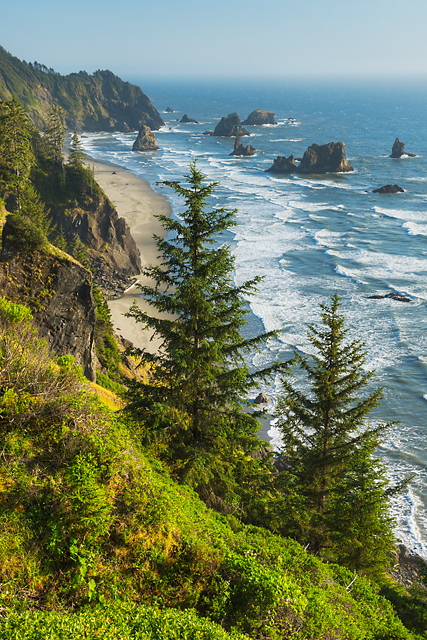 China Creek Beach from Spruce Creek Viewpoint, Samuel H. Boardman State Park, Oregon