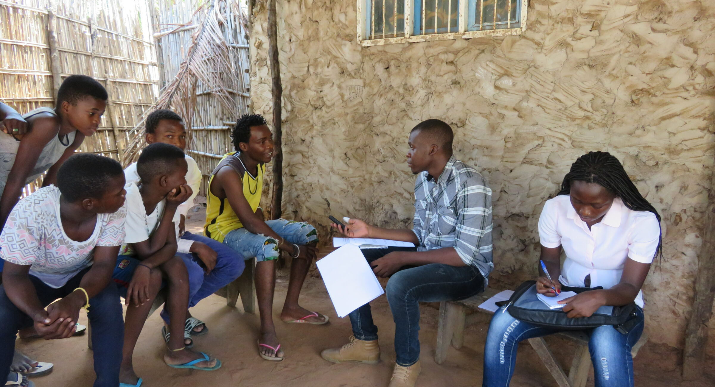 Student interviews Pemba