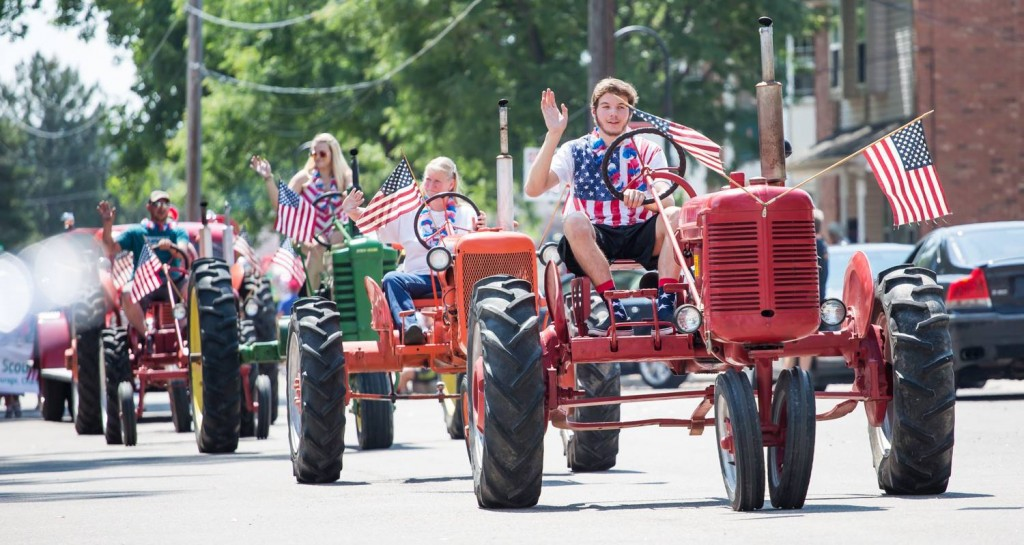 Slepika family in the 2015 4th of July parade