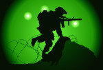 US soldier used night vision goggles