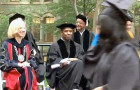 Denzel Washington hangs out on College Green