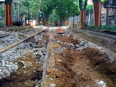 Who knew? Trolley tracks under Locust Walk!