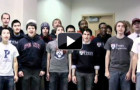 Watch this sea of Penn sweatshirts and t-shirts sing you holiday jingles (Exclusive Videos)