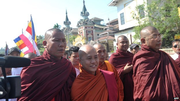 Wirathu personally attacked the UN envoy at a rally of his supporters