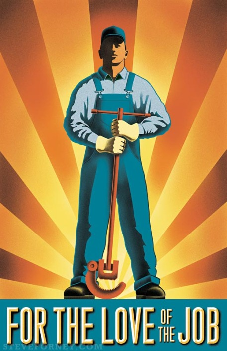 heroic worker illustrated