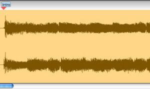waveform from Transcribe! best guitar transcription software