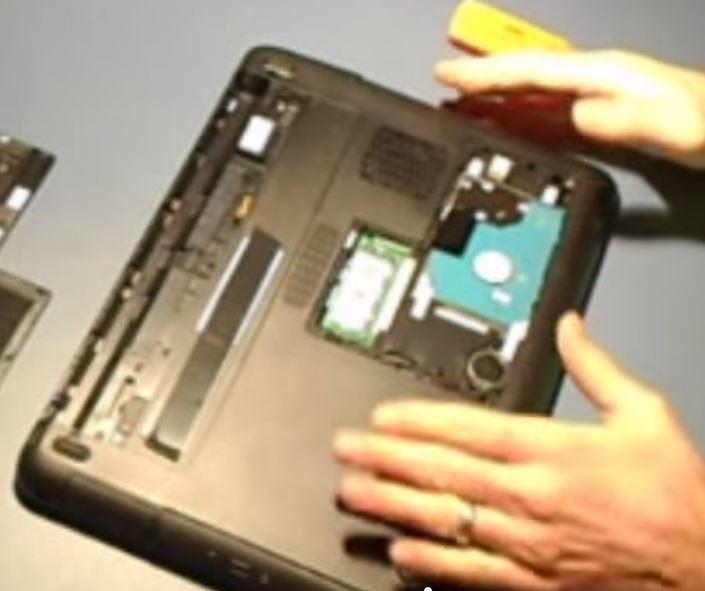 Remove a Laptop Hard Drive