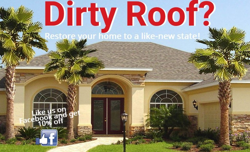 Roof Pressure Cleaning Wellington FL | Power Cleaning Roof