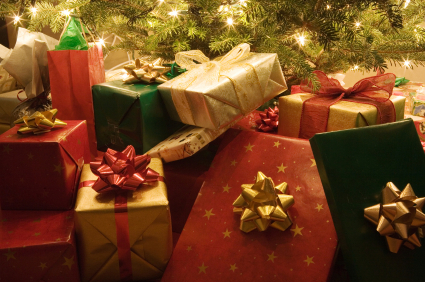 Wrapped presents under the Christmas Tree