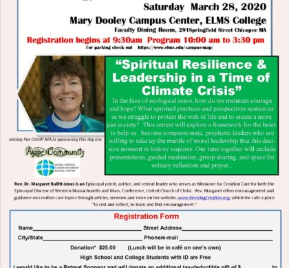 Spring Retreat: Spiritual Resilience & Leadership in a Time of Climate Crisis